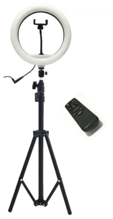 Кольцевой осветитель BLF Lighting Кольцевая светодиодная лампа 32 см с пультом ДУ и штативом 2 метра для профессиональной съемки RING SUPPLEMENTARY LAMP PRO