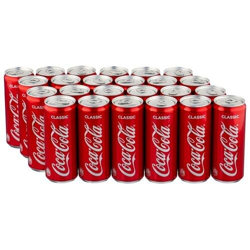 Газированный напиток Coca-Cola Classic, 0.33 л, 24 шт. сувенир coca cola 2015