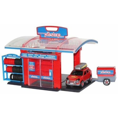 цена на Wader Тюнинг-центр Pit-Stop 53695 красный/голубой/серый/черный