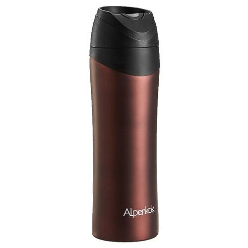 Термокружка Alpenkok AK-04802A, 0.48 л коричневый