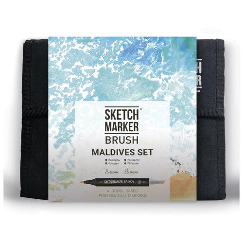 Купить SketchMarker Набор маркеров Brush Maldives Set, 36 шт., Фломастеры