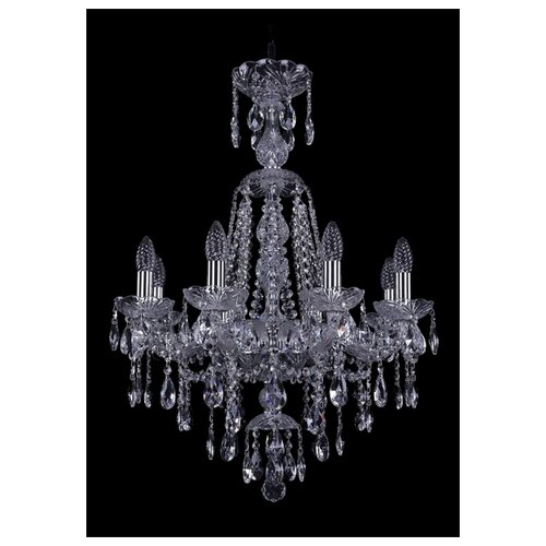Люстра Bohemia Ivele Crystal 1415 1415/8/200/XL-76/Ni, E14, 320 Вт