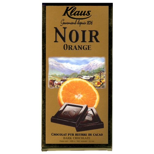 шоколад klaus горький 80% какао 100 г Шоколад Klaus горький с апельсином, 100 г