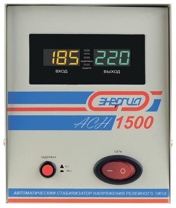 Стабилизатор напряжения однофазный Энергия ACH 1500 (2019)