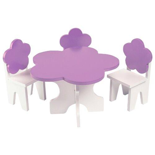 Купить PAREMO Набор мебели для кукол Цветок (PFD120-45/PFD120-46/PFD120-44/PFD120-42/PFD120-43) белый/фиолетовый, Мебель для кукол