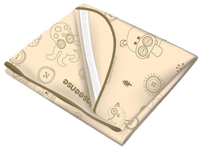Многоразовая клеенка Inseense Наматрасник с резинками-держателями, 100х70 см