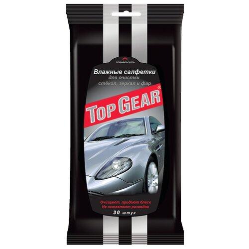Фото - Влажные салфетки Top Gear для стекол, фар, зеркал 30 шт белый top gear влажные салфетки для