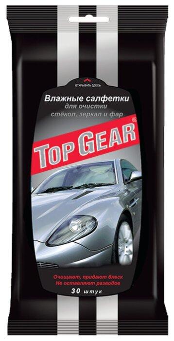 Влажные салфетки Top Gear для стекол, фар, зеркал 30 шт