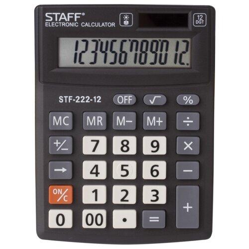 Калькулятор бухгалтерский STAFF STF-222-12 черный