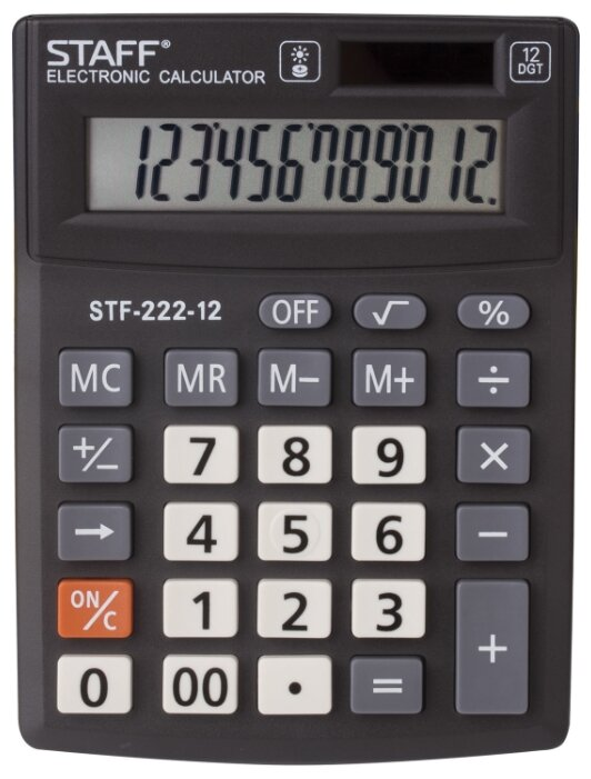 Калькулятор бухгалтерский STAFF STF-222-12