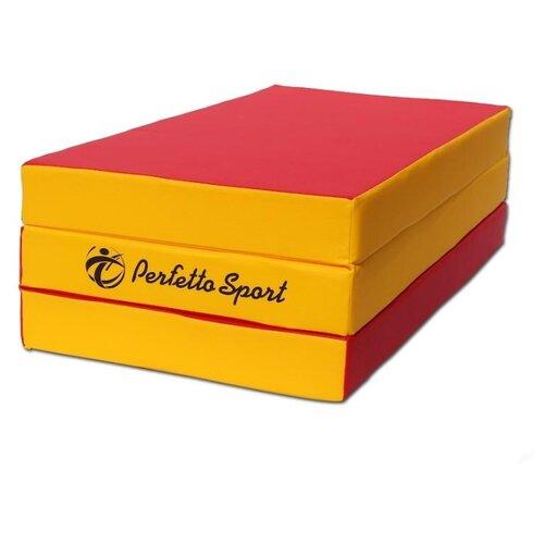 Спортивный мат 1500х1000х100 мм Perfetto Sport № 4 красно/жёлтый