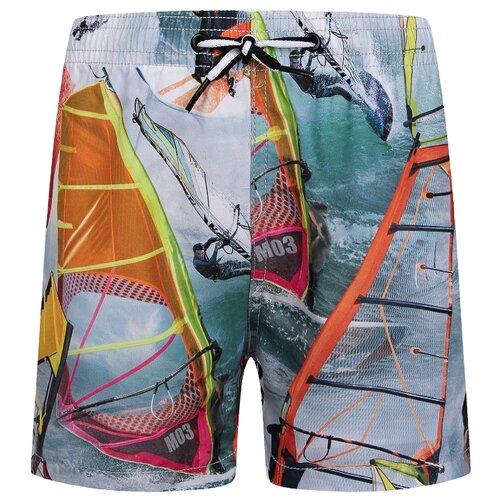 Купить Шорты для плавания Molo размер 134, серый/желтый/оранжевый/зеленый, Белье и пляжная мода