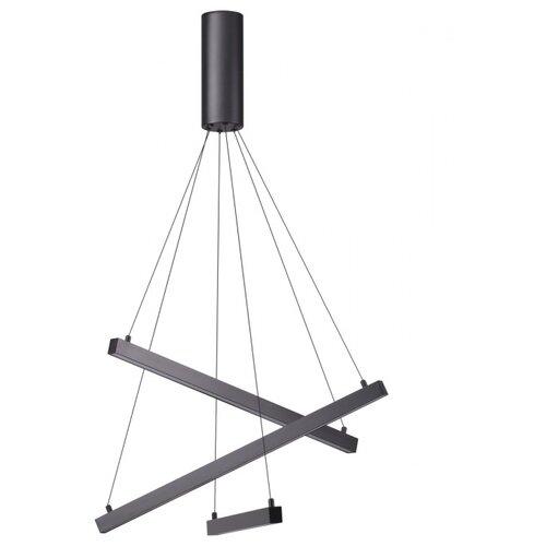 Светильник светодиодный Odeon light Сometa 3860/39B, LED, 39 Вт светильник светодиодный odeon light piano ip20 led 46вт черный разноцветный