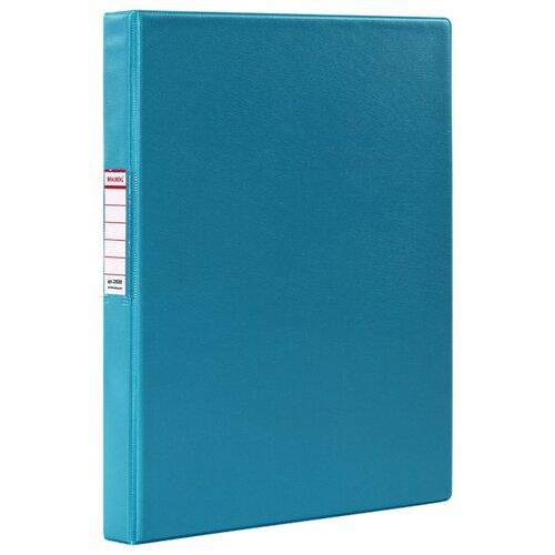 Купить BRAUBERG Папка на 2-х кольцах A4, картон/ПВХ, 35 мм бирюзовый, Файлы и папки