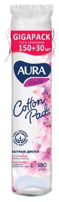 Купить Ватные диски Aura Beauty Cotton pads с прошитыми краями, 180 шт. по низкой цене с доставкой из Яндекс.Маркета (бывший Беру)