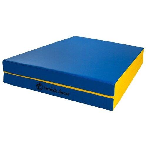 Спортивный мат 1500х1000х100 мм Perfetto Sport № 10 сине/жёлтый