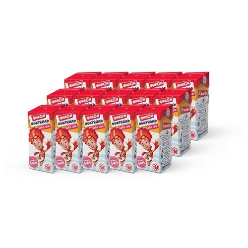Молочный коктейль Галактика Фиксики Бабл-Гам 3%, 200 мл, 15 шт.