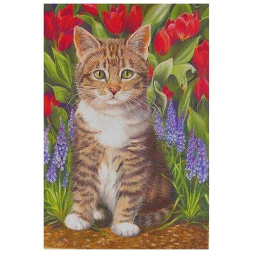 Купить Картина по номерам Molly 20х30 см Котенок в саду, Картины по номерам и контурам