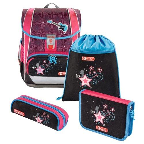 Купить Step By Step Ранец Light2 Popstar 4 предмета (138507), розовый/черный, Рюкзаки, ранцы