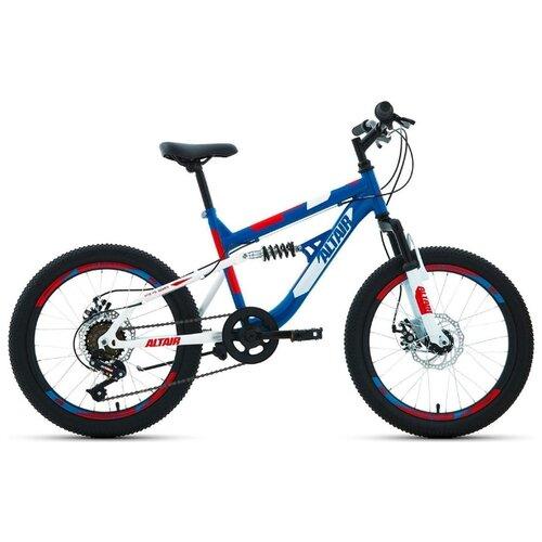 """Подростковый горный (MTB) велосипед ALTAIR MTB FS 20 Disc (2020) синий 13"""" (требует финальной сборки)"""