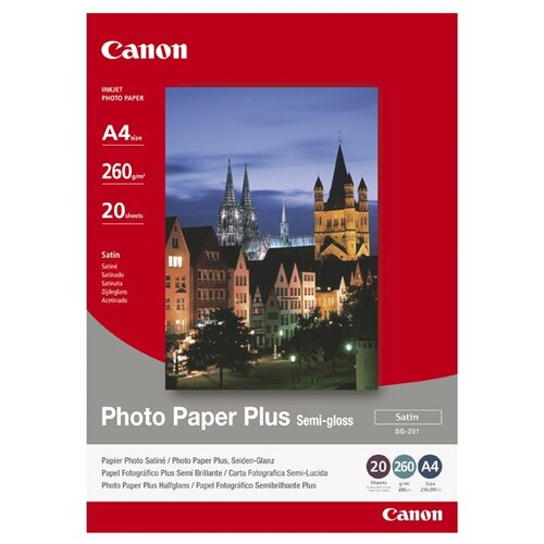 фото Бумага canon a4 plus semi-gloss sg-201 260 г/м² 20 лист. 20шт.