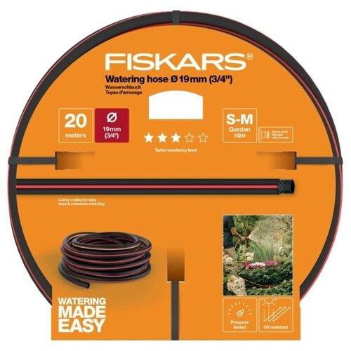 """Шланг FISKARS Q3 3/4"""" 20 метров черный/красный/оранжевый"""