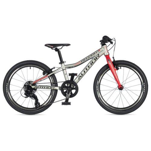 Фото - Подростковый горный (MTB) велосипед Author Record 20 (2020) silver/red 10 (требует финальной сборки) горный mtb велосипед merida matts 7 20 2020 glossy purple lilac s требует финальной сборки