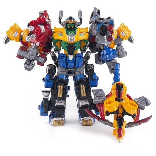 Трансформер YOUNG TOYS Metalions Barbarian King Mini красный/синий/серый/желтый трансформер young toys metalions ursa серый
