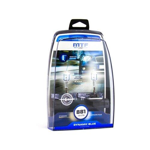 Фото - Лампа автомобильная галогенная MTF Dynamic Blue HDB1281 H27(881) 12V 55W 2 шт. лампа автомобильная галогенная mtf dynamic blue hdb1280 h27 880 12v 27w 2 шт