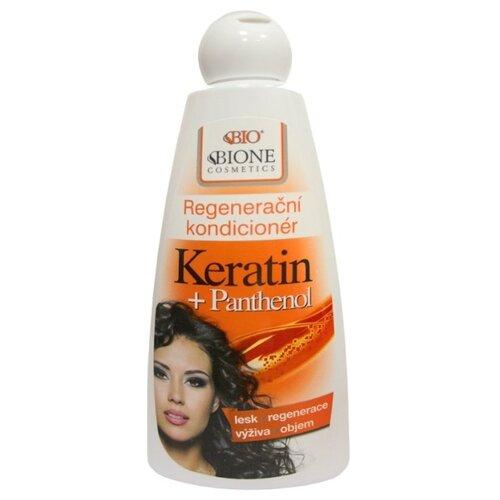 Bione Cosmetics кондиционер для волос Keratin + Pantenol регенерирующий, 260 мл bione cosmetics шампунь exclusive q10 260 мл