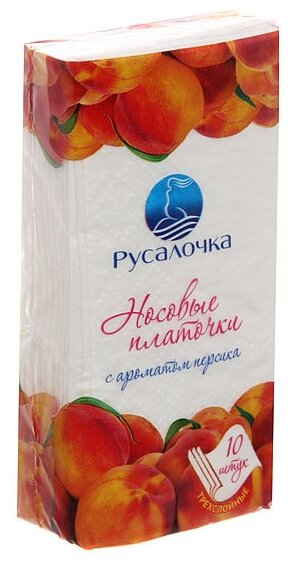 Платочки Русалочка с ароматом персика — купить по выгодной цене на Яндекс.Маркете