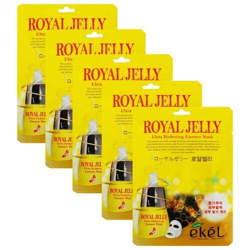 Ekel Ultra Hydrating Essence Mask Royal Jelly Тканевая маска с экстрактом маточного молочка, 25 мл, 5 шт. beauty153 153 royal jelly essence mask объем 25 мл
