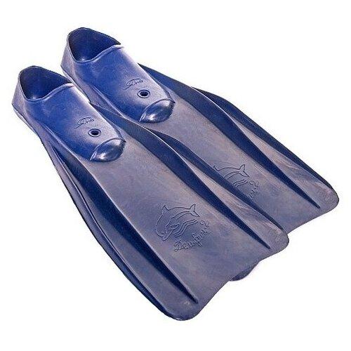Ласты с закрытой пяткой Альфапластик Дельфин синий 44-46