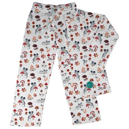 Пижама Marengo Textile размер 140, белый/серый/красный