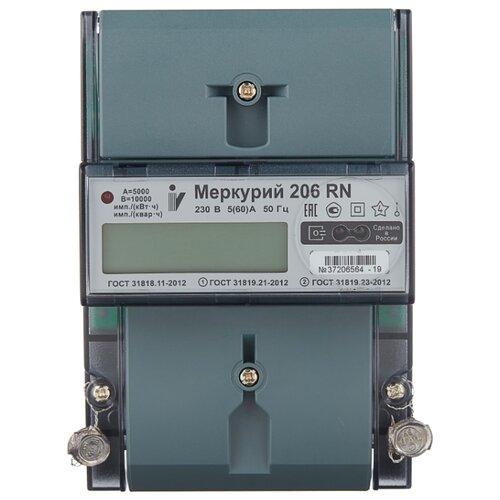 Счетчик электроэнергии однофазный многотарифный INCOTEX Меркурий 206 RN 5(60) А