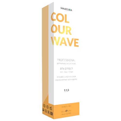 Malecula перманентная крем-краска Colour Wave, 100 мл, 7.8 холодный коричневый блонд touche chromatique холодный коричневый купить