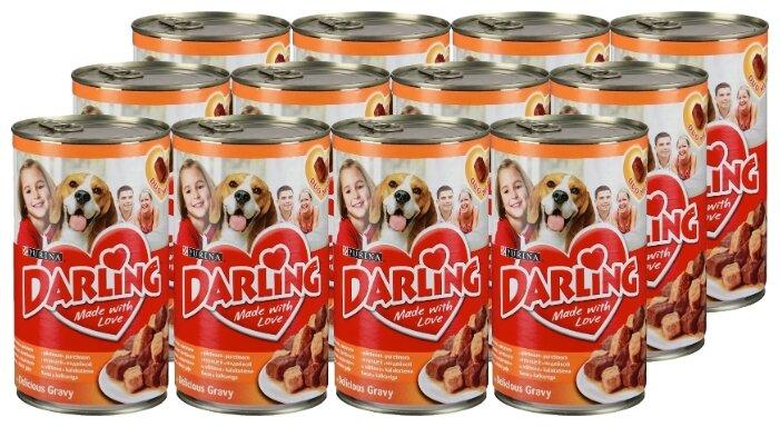 Корм для собак Darling курица, индейка 12шт. х 1.2 кг