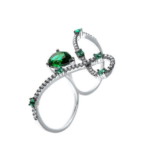 ELEMENT47 Кольцо из серебра 925 пробы с кубическим цирконием R27022-W2_KO_001_WG, размер 17