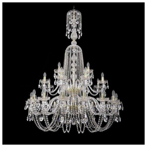 Люстра Bohemia Ivele Crystal 1402 1402/16+8+4/400/XL-160/2d/G, E14, 1120 Вт bohemia ivele crystal 1406 16 8 4 400 160 2d g