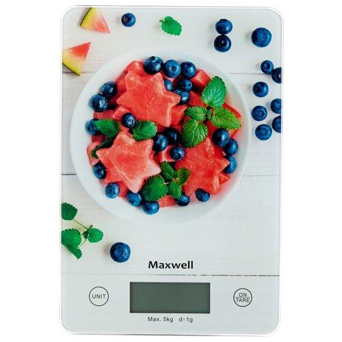 Кухонные весы Maxwell MW-1478 MC белый/красный/синий весы кухонные maxwell 1477 mw pk розовый