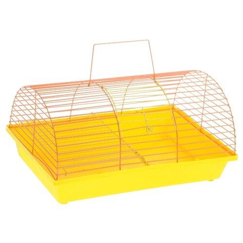 Клетка для грызунов Зоо Марк 110Ж 36х23х17.5 см желтый/оранжевый