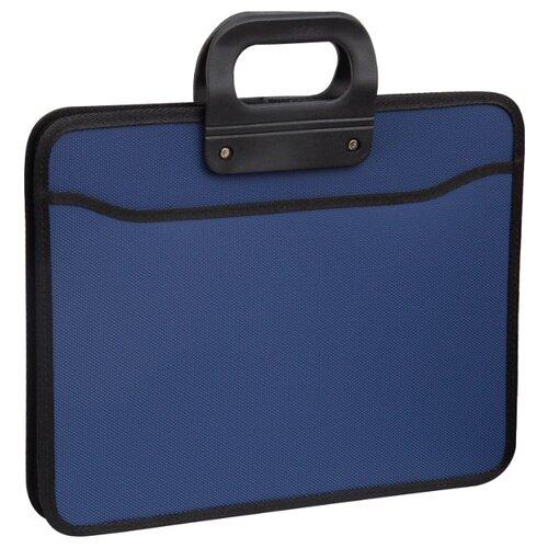 Купить OfficeSpace Папка-портфель 3 отделения А4+, на молнии, пластик синий, Файлы и папки