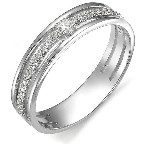 АЛЬКОР Кольцо с бриллиантом из белого золота 585 пробы 11929-200, размер 16.5 алькор кольцо с бриллиантами из белого золота 585 пробы 12015 200 размер 19 5