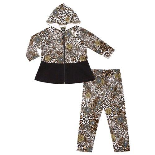 Купить Комплект одежды Апрель размер 98-56, черный/леопард, Комплекты и форма