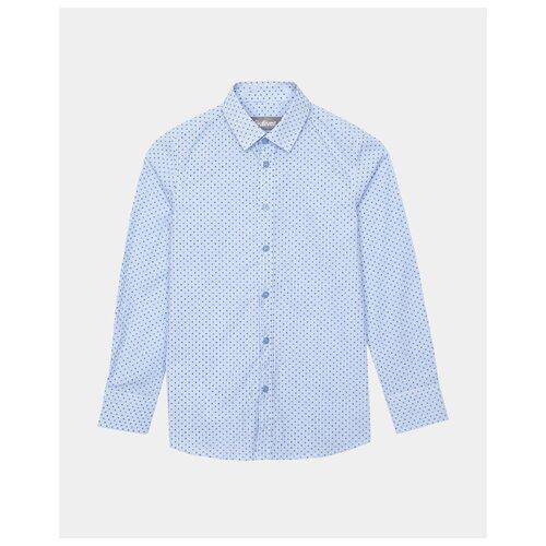 Купить Рубашка Gulliver размер 140, голубой, Рубашки