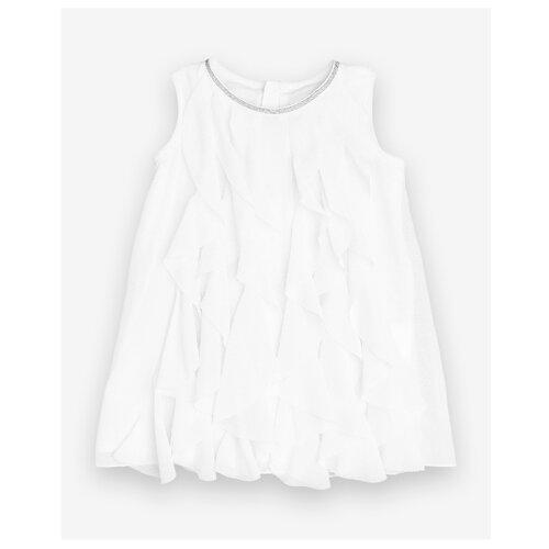 Платье Gulliver Baby размер 86, белый платье oodji ultra цвет красный белый 14001071 13 46148 4512s размер xs 42 170