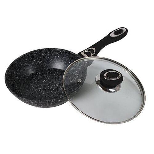 Фото - Сковорода глубокая черн.BK-7887 20 см с мраморным покрытием сковорода bekker bk 7843 глубокая черная 26 см с мраморным покрытием