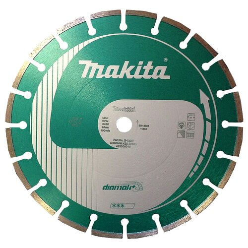 Диск алмазный отрезной 300x20 Makita B-13281 1 шт. алмазный диск makita 150х22 2мм economy b 28101