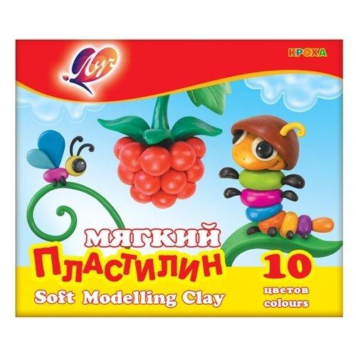 Купить Пластилин Луч Кроха 10 цветов (12С875-08), Пластилин и масса для лепки