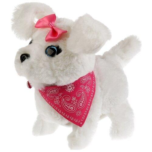 Купить Мягкая игрушка Мой питомец щенок Кенди белый/розовый, Роботы и трансформеры